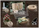 Coffee Crafts Gifts Craft Ideas DIY Recycled Upcycled Ground Coffee